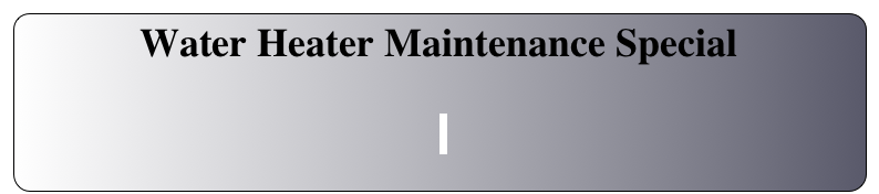 Water Heater Maintenance Special
